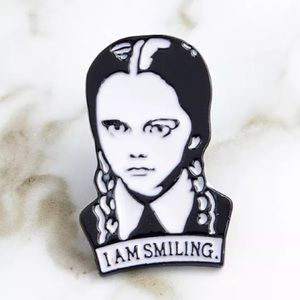 Jewelry - Wednesday Adams I Am Smiling Pin